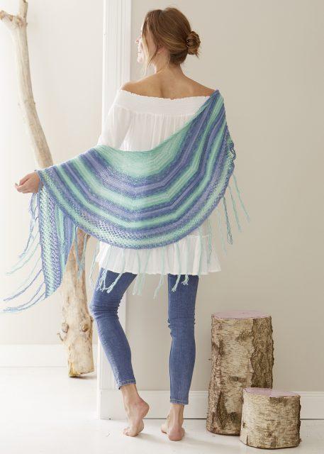 modèle châle au tricot