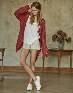 modèle S10161B - gilet Soft Linen Mix