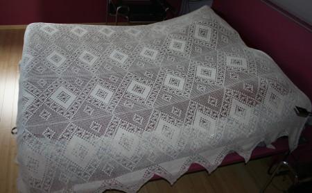 couvre-lit au crochet fait main