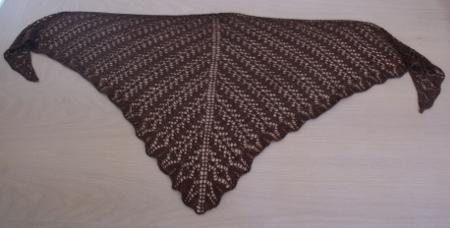 tricot dentelle zetor brun