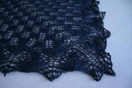 détail dentelle au tricot - nano oya