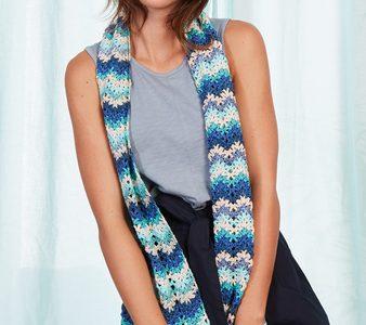 écharpe Mix et knit au crochet