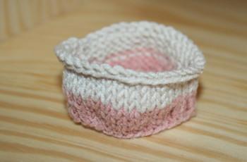 échantillon de tricot en rond