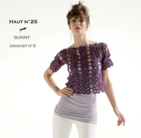 modèle blouse au crochet
