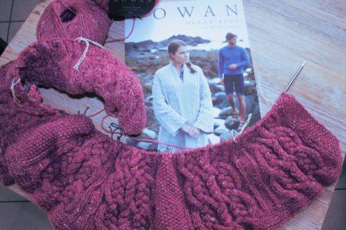Début du tricot Oceana de Martin Storey