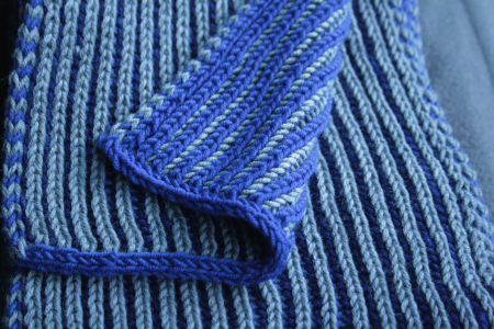 bordure de l'écharpe en i-cord