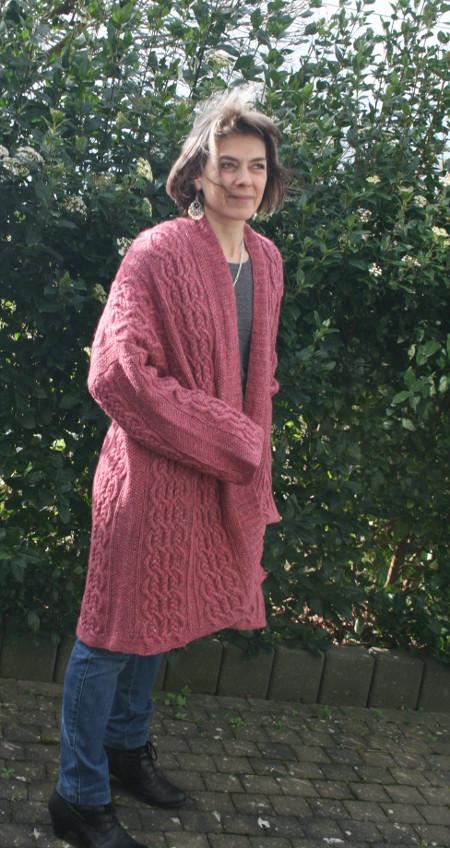 mon gilet Oceana en Felted Tweed