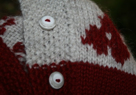 boutons de mon manteau Hortensia