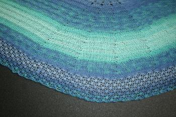 chèche au tricot - avant blocage