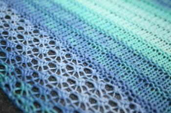détail du tricot - point ajouré