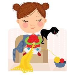 dessin de tricoteuse