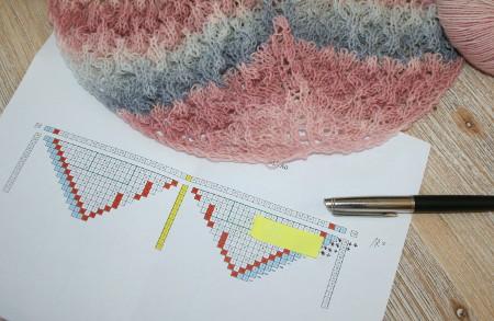 schéma d'un tricot dentelle