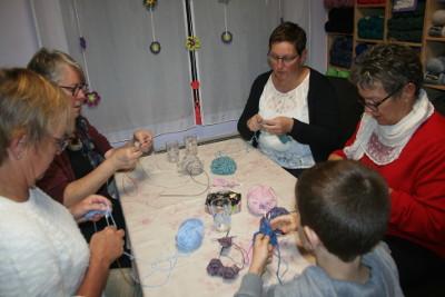 participants à l'atelier aiguilles circulaires