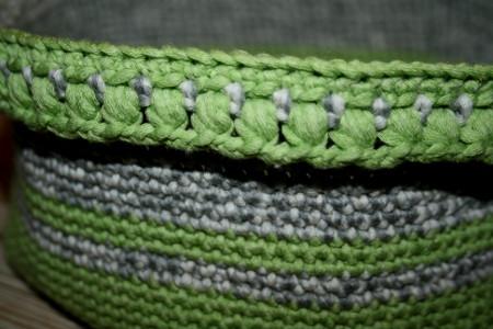 détail de la bordure en mouchets