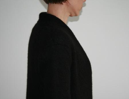 Lull noir - le col châle