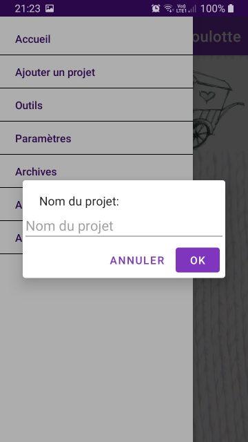 Le compteur de la Roulotte ajouter un projet